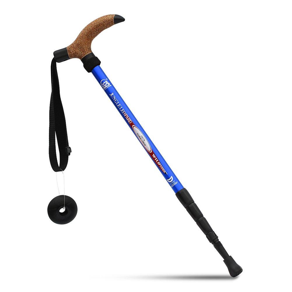 KRY en Forma de T asa retr/áctil Aviaci/ón aleaci/ón de Aluminio Alpenstock Bast/ón telesc/ópico Ajustable Anti Choque Senderismo Stick