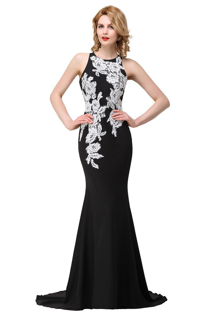 Black and White Formal Dress: Amazon.com