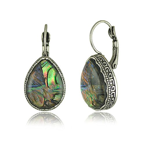 Trifari Clear Rhinestone (Darkey Wang Fashion Women's Unique Retro Bohemian Colored Shell Earrings Natural Shell)