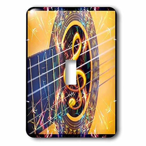 Florene - Music - Image of Acoustic Guitar Closeup - Light Switch Covers - single toggle switch (lsp_233677_1)