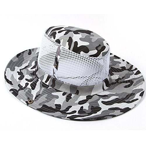 4635e45d4b6 Ezyoutdoor Outdoor Large Brimmed Fishing Hat UV 50+ Protection  Multifunctional Flap Hat Quick Drying Bucket Hat Bonnie Cap for Hiking  Camping Traveling ...