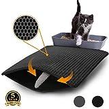 Flow.month Cat Litter Mat Litter Trapping - Size 24''x18'' Honeycomb Double Layer Cat Mats for Litter Boxes