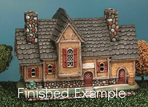 Crystal Creek Inn unpainted ceramic bisque ready for you to paint (Ceramics To Christmas Village Paint)