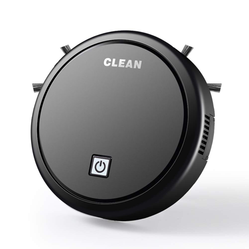 Hankyky Aspiradoras Rob/óticas Inteligentes 12.99 * 10.04 * 2.95 Pulgadas, Blanco Negro Aspiradora Inteligente Robot de Barrido M/áquina de Limpieza Autom/ática de Carga USB Lazy