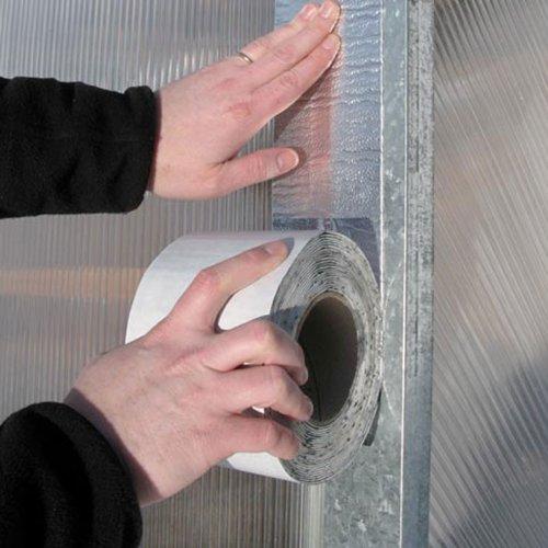 Flexible Flashing & Repair Tape - 4''W x 33'6''L Aluminum Foil