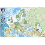 Grupo Erik Editores GPE4733 Physical and Political Map of Europe Poster, 61 x 91.5 cm