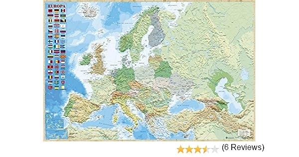 Grupo Erik Editores Poster Mapa Europa Es Fisico Politico: Amazon.es: Oficina y papelería