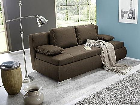 Útil Schläfer Dormir sofá Merlin 210 x 112 cm marrón, cama ...