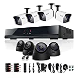 ELEC 8CH 8 Channel 960H H.264 DVR Indoor/Outdoor Surveillance CCTV Security Camera System No Hard Drive Included
