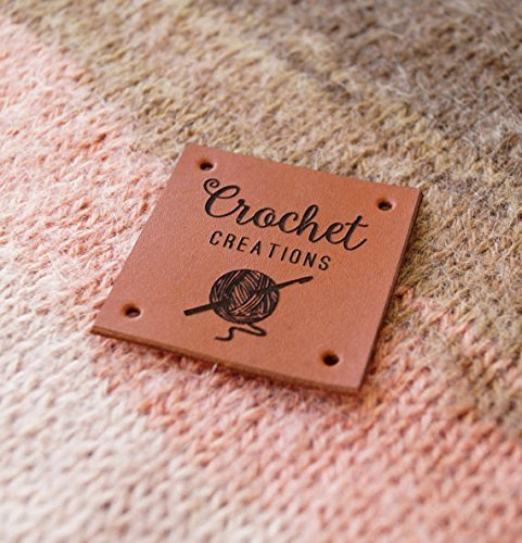 Leather Labels Knitting Personalized Logo Crochet Custom Made