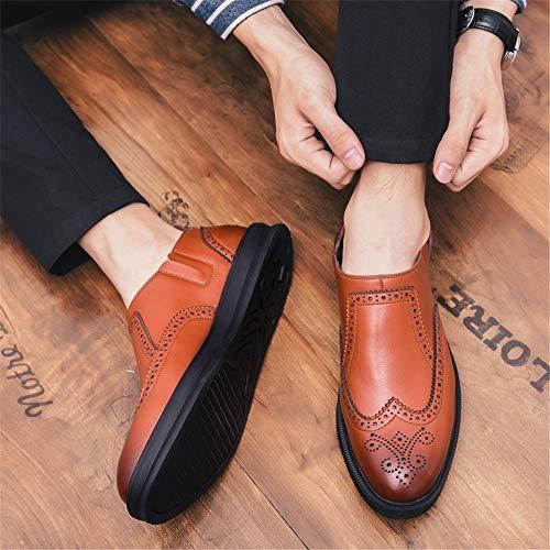 Pour Noir De Brogue shoes Oxford Yajie Chaussures Britannique D'affaires 40 Hommes Décontractées Style Marron Taille Eu color gn0WUCW