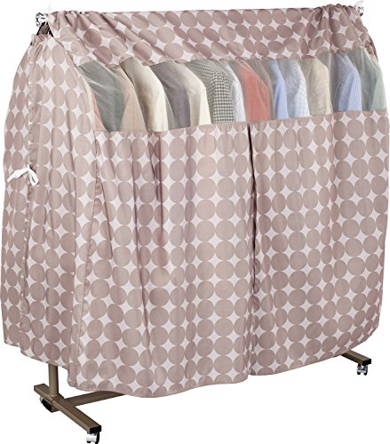 1Storage Washable Garment Rack Covers with Side Covers Circle Print
