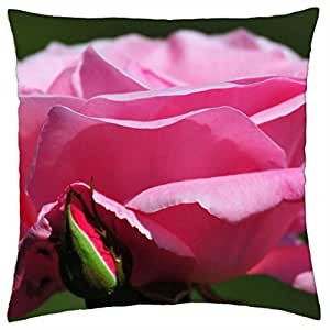 HX-LDS A Quote in White Script On Hot Pink Pillow Decorative Inspirational Quotes Pillow Cover Square Throw Pillow Case Cover Quotes Two Sides Zippered Pillowcase Pillow Cover 18x18 inches #5376
