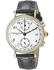 Frederique Constant Womens FC291A2RD5 Classics Analog Display Swiss Quartz Grey Watch