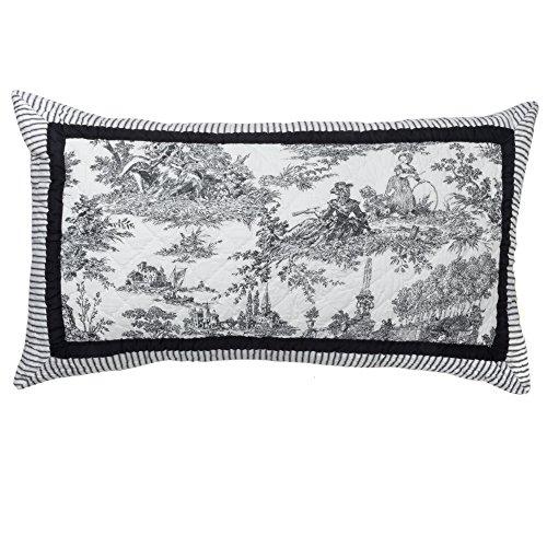 424BKS Black & White Toile King Sham Black & White Toile (Black And White Toile Bedding)