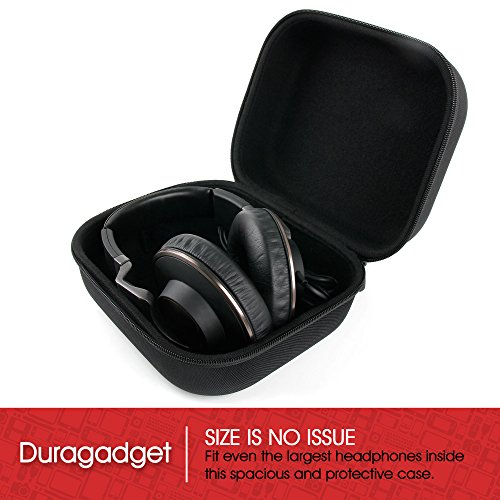 LARGE Matte Black Tough EVA Storage Carry Case for SteelSeries Siberia 800 | 840 Full-Size Wireless Headset - by DURAGADGET