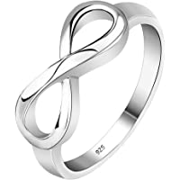 VPbao Women Ring Plated 925 Sterling Silver Rings Jewellery White
