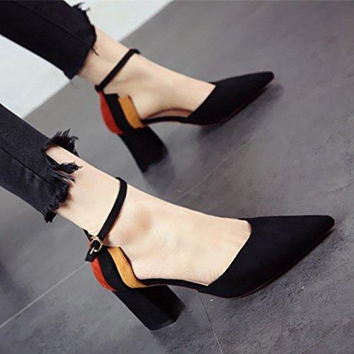 FLYRCX La primavera y el verano de señoras de moda tacones señaló personalidad superficial único partido Zapato Zapato zapatos de trabajo a