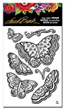 STAMPENDOUS Laurel Burch Cling Rubber Stamp Set, Imagine Butterflies