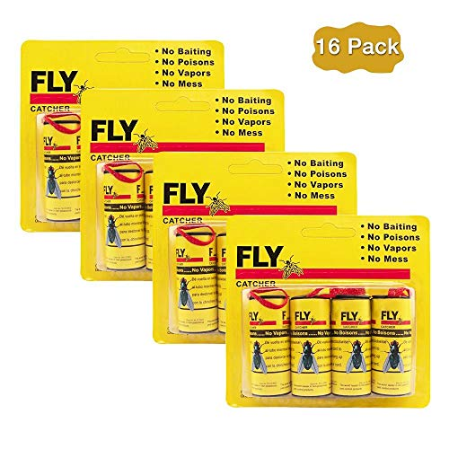 Kenneth Wagner 16 PCS Fly Trap, Sticky Tapes for Flying Plant Insect, Fly Catcher Ribbon, Fly Paper Strips, Fly Catcher, Fly Bait