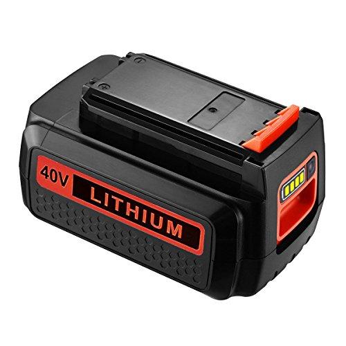 Powerextra 40 Volt MAX 2.0Ah Replacement Battery for Black and Decker LBX2040 LBX36 LBXR36 LBXR2036 40V Lithium Ion (36v Lithium Ion Battery)