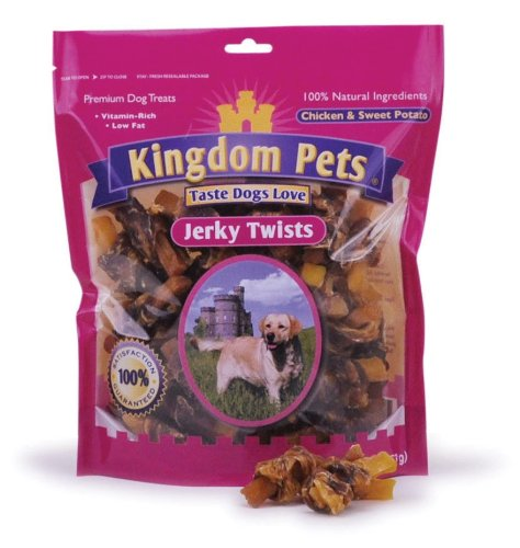 Kingdom Pets Premium Dog Treats, Chicken and Sweet Potato Jerky Twists  4-Ounce Bags (Pack of 6), My Pet Supplies