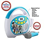 Toy Story 4 Bluetooth Sing Along Portable MP3 Player Real Working Microphone Stores Up To 16 Hours of Music with 1 GB Built In Memory USB Port To Expand Your Content Built In Rechargeable Batteries