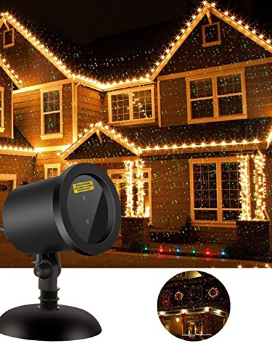 CERCHIO Xmas Lights Outdoor Christmas Projector Star Laser Motion Lights for Garden Christmas Decoration As Seen on TV, Auto Pattern Beam Holiday Party Lighting Landscape Shower (Christmas Star Pattern)