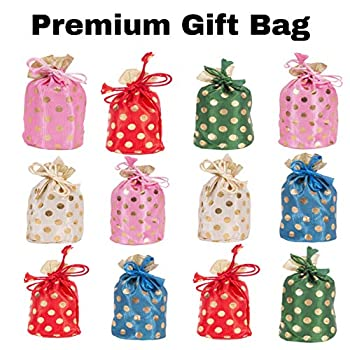 Image of Amba Handicraft Pouches/Drawstring poches/Coin Purse/Gift Bag/Wedding Pouch/Baby Shower Bags/Jewellery Bag/ AHGB016