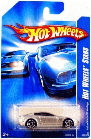 "Hot Wheels Aston Martin V8 Vantage ""Hot Wheels Stars"" #50 (2008) 1:64 Scale Collectible Die Cast Car"