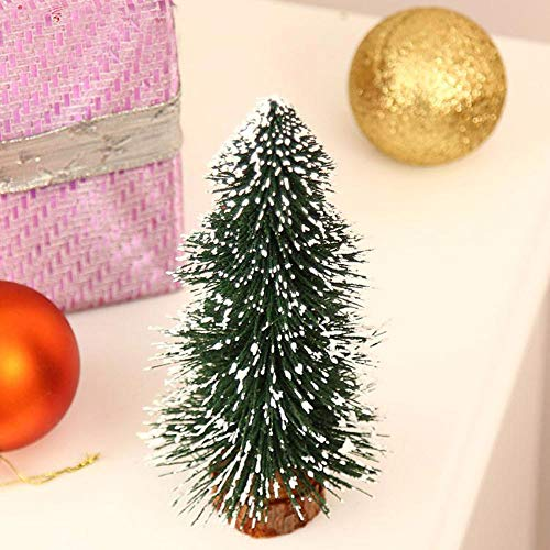 Highpot Mini Christmas Tree Green Sisal Snow Frost Trees Bottle Brush Trees Tabletop Christmas Trees for DIY Room Decor Table Top Decoration (7.9 inches) by Highpot (Image #4)