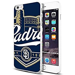 MLB San Diego Padres old logo Baseball,Cool iPhone 6 Plus (6+ , 5.5 Inch) Smartphone Case Cover Collector iphone TPU Rubber Case White by icecream design