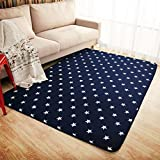 Ustide Navy Blue Modern Kids Rugs Anti-slip Kids Bedroom Carpet Thicken Baby Crawling Mats Machine Washable Rugs For Sale