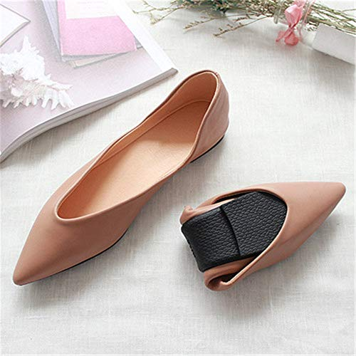 non Fashion shoes mouth shoes simple work foldable pointed shoes slip shoes FLYRCX comfortable flat maternity A temperament shallow Pd61nnWax