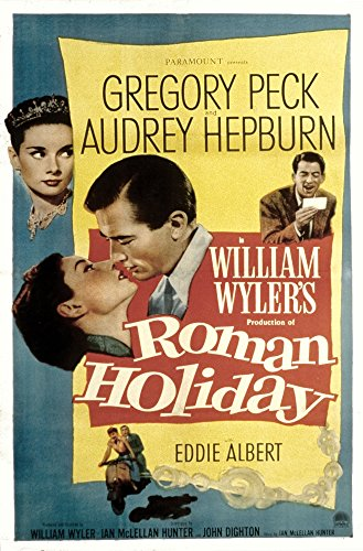 Posterazzi Roman Holiday Audrey Hepburn Gregory Peck 1953 Movie Masterprint Poster Print (11 x 17)