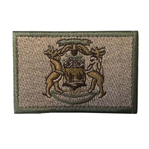 ichigan Flag Tactical Morale Patch Coyote ()