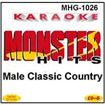 Monster Hits Karaoke #1026 - Male Classic Country