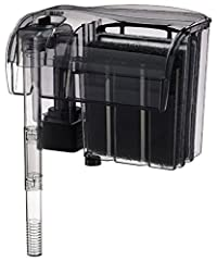 Ultra efficient filtration system for aquariums up to 55 gallons. Multi-Stage filtration, mechanical, chemical & biological filtration. Stage one - Mechanical: Advance multi-layered polyfiber floss traps micro & macro organic particle...