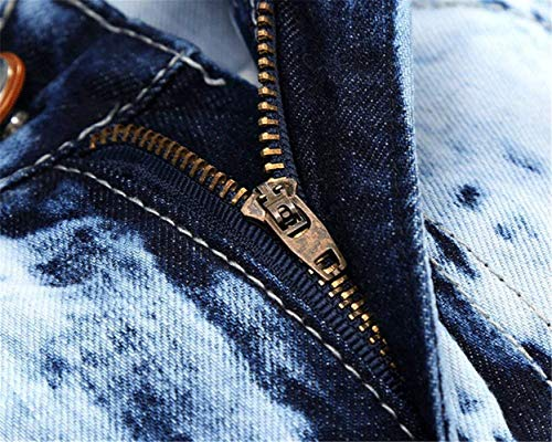 Distintivo 32l Dimagriscono Torn 34 Saoye Fori Patch 167 Pantaloni Dei Jeans Size Casual Giovane Uomini color Hellblau Denim Retrò Etero Fashion Cher wqRER610x