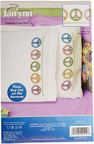 JANLYNN Stamped Cross Stitch Pillowcase Pair 20