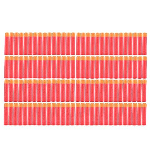 (Yosoo 30-120pcs 9.5cm Red Soft Mega Refill Bullet Darts Foam Darts for Nerf N-Strike Elite Series Blasters Kid Toy Gun (120pcs))
