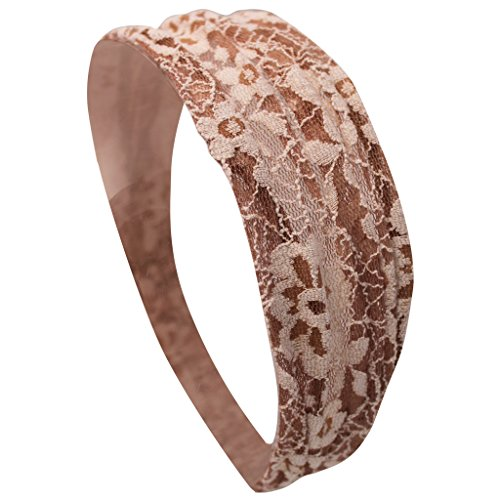 Mia Ivory Lace Headwrap With Covered Elastic-One Size Fits All! (1 piece per package)