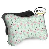 HASKDWHHK Flamingos Car Neck Pillow (Soft Version)- Neck Pillow, Car Pillow, Memory Foam Neck Pillow, Neck Rest Pillow