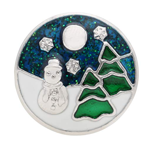 Lovmoment 20MM Snap Buttons Snowman Snaps Jewelry for Women 2018 New Fashion Christmas Present