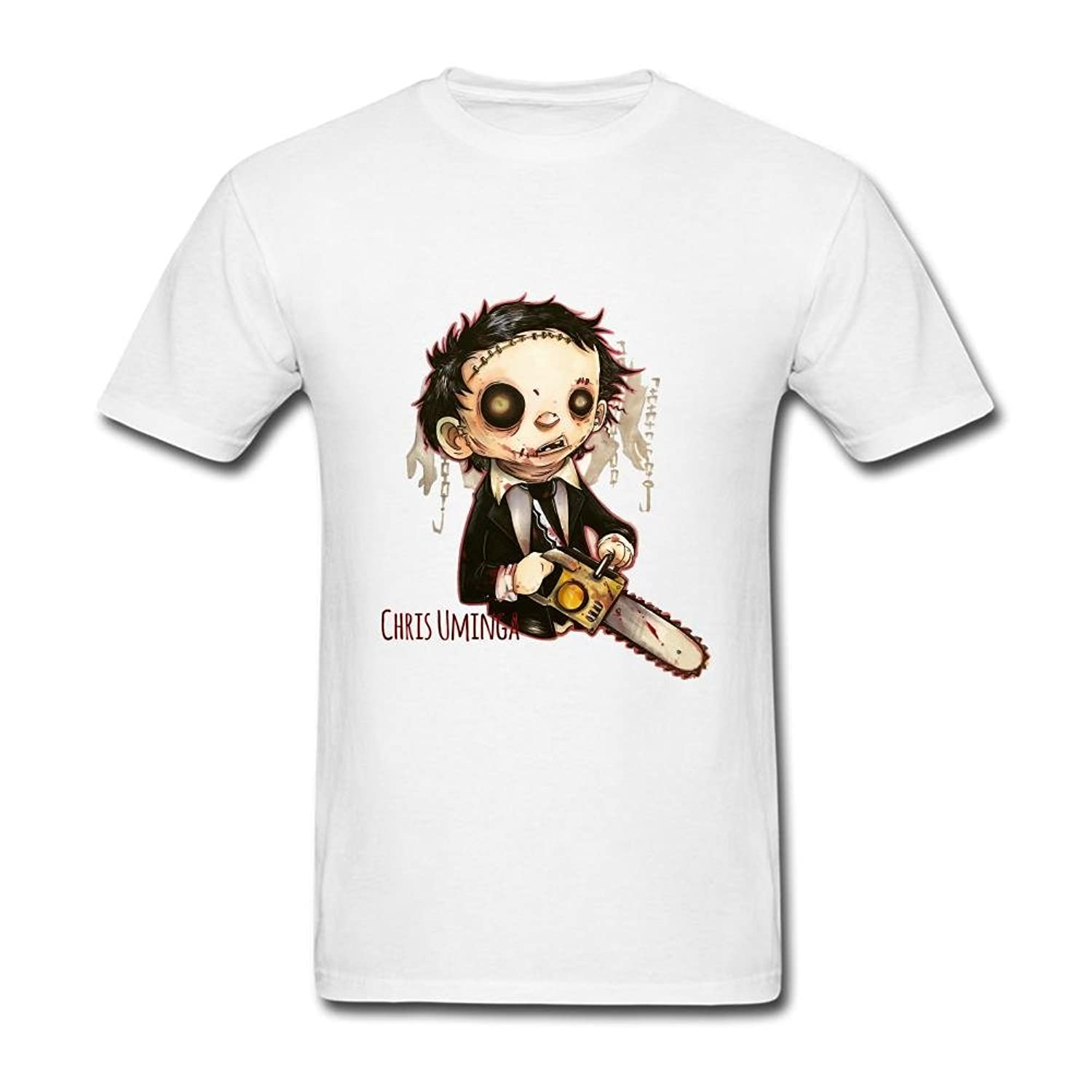 FQYPMC Man 100% Cotton Letherface Tshirts