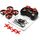 PST NIHUI NH-010 Mini RC Quadcopter Drone Toys 2.4G 4CH 6 Axis Gyro Headless Mode Remote Control RTF One-key Return-Red