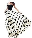 Ru Sweet Ladies Women Maxi Chiffon Skirt Dress Polka Dot Casual Long Summer Beach Skirts