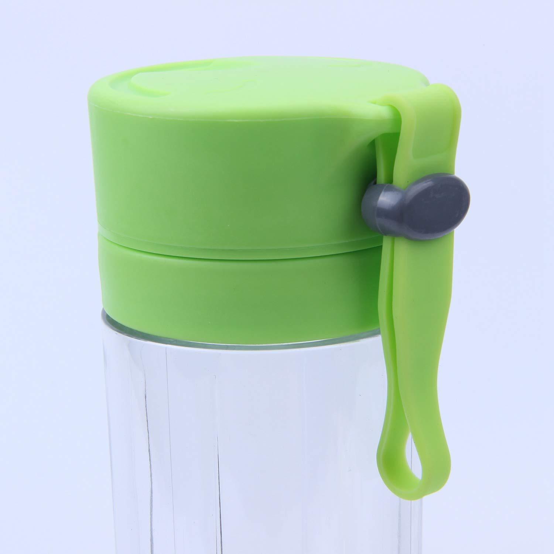 Presse-agrumes /électrique USB portable 380 ml avec 4 lames batterie rechargeable 2000 mAh vert