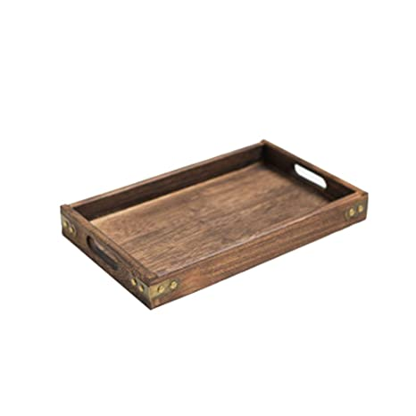Amazon Com Rustic Serving Tray Wood Decorative Tray With