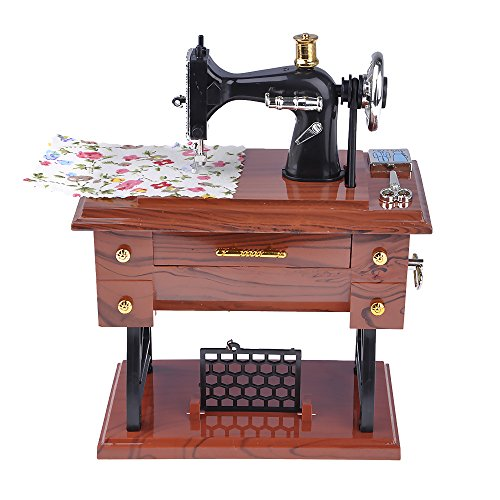 Huayang Treadle Sartorius Musical Sewing Machine Music Box Desktop Decor New Mother Gifts Birthday Gifts for Mom Grandma Friend - Antique Treadle Sewing Machines